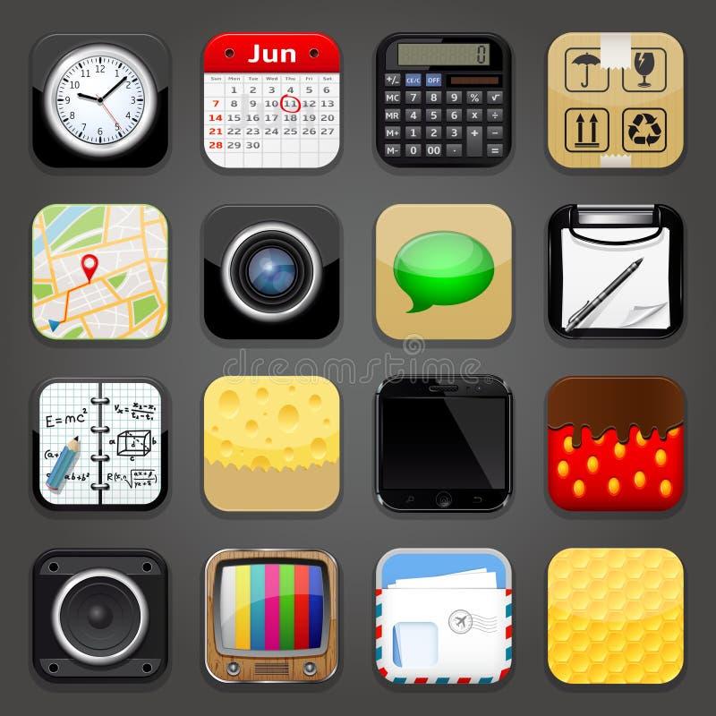 Achtergrond voor app pictogrammen royalty-vrije illustratie