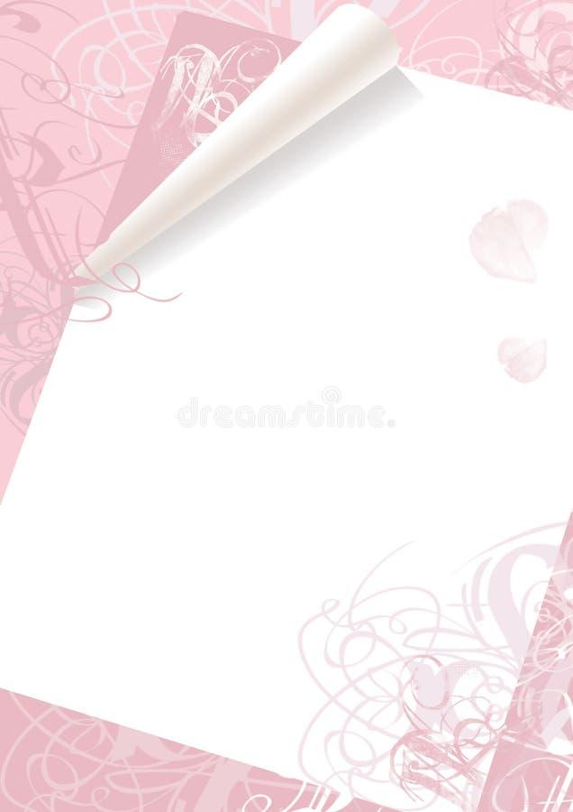 Achtergrond voor de Dag van de Valentijnskaart vector illustratie