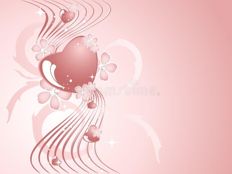 Achtergrond voor de dag van de Valentijnskaart stock illustratie