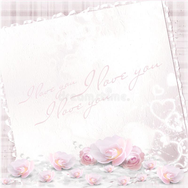 Achtergrond voor de Dag van Valentijnskaarten royalty-vrije stock afbeelding