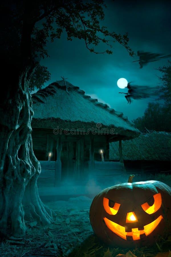 Achtergrond voor een partij op de nacht van Halloween vector illustratie