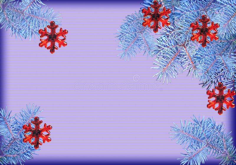 Achtergrond voor een prentbriefkaar voor het Nieuwjaar royalty-vrije stock afbeeldingen