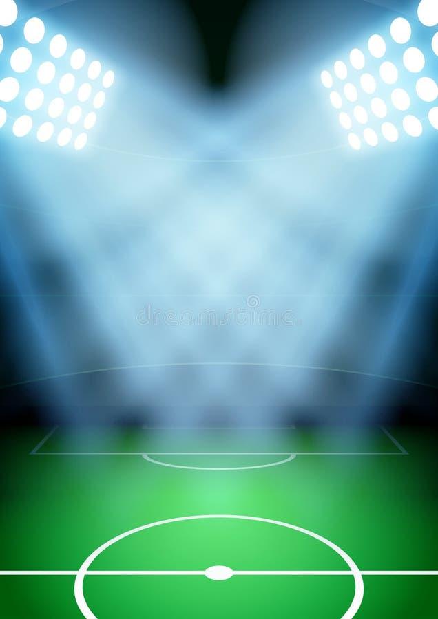 Achtergrond voor het voetbalvoetbal van de affichesnacht stock illustratie