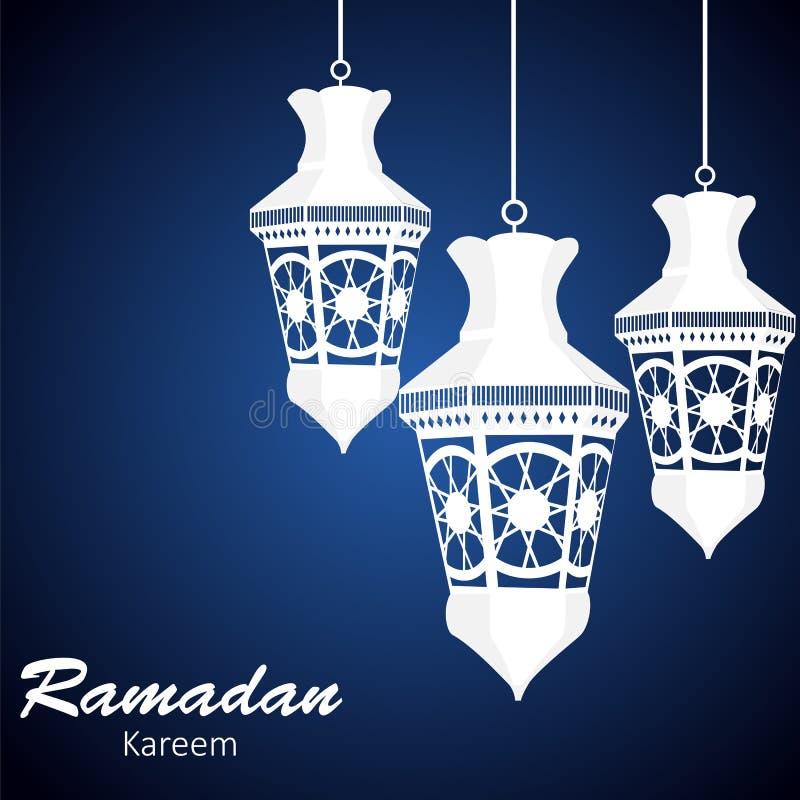 Achtergrond voor Moslim Communautaire Festivalvector vector illustratie