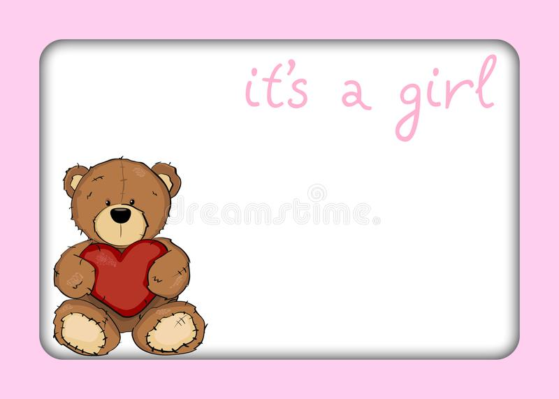 Achtergrond voor pasgeboren babymeisje illustraties vector illustratie