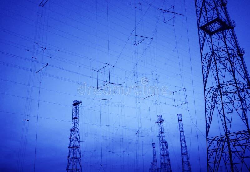 Achtergrond voor telecommunicatietechnologie royalty-vrije stock afbeeldingen