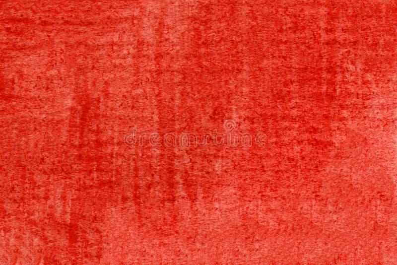 Achtergrond waterkleur Abstract getextureerde achtergrond van rode vlek Illustratie tekenkleur Ontwerp modern rood stock illustratie