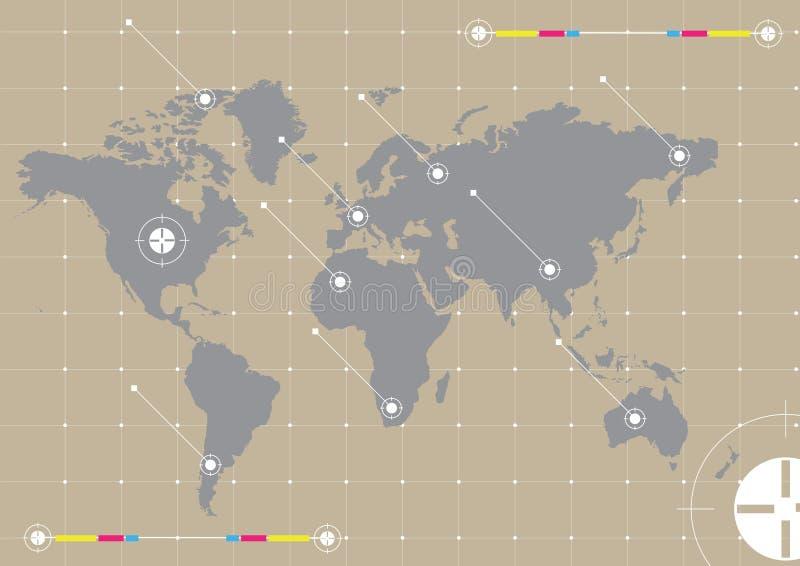 Achtergrond wereld royalty-vrije illustratie