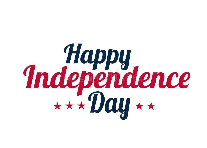 Achtergrondbanner voor 4 juli, Onafhankelijkheidsdag De viering van de V.S. De vectordag van de ontwerp Gelukkige Onafhankelijkhe stock illustratie