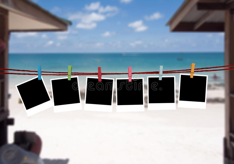 Achtergrondbeelden op het strand royalty-vrije stock fotografie