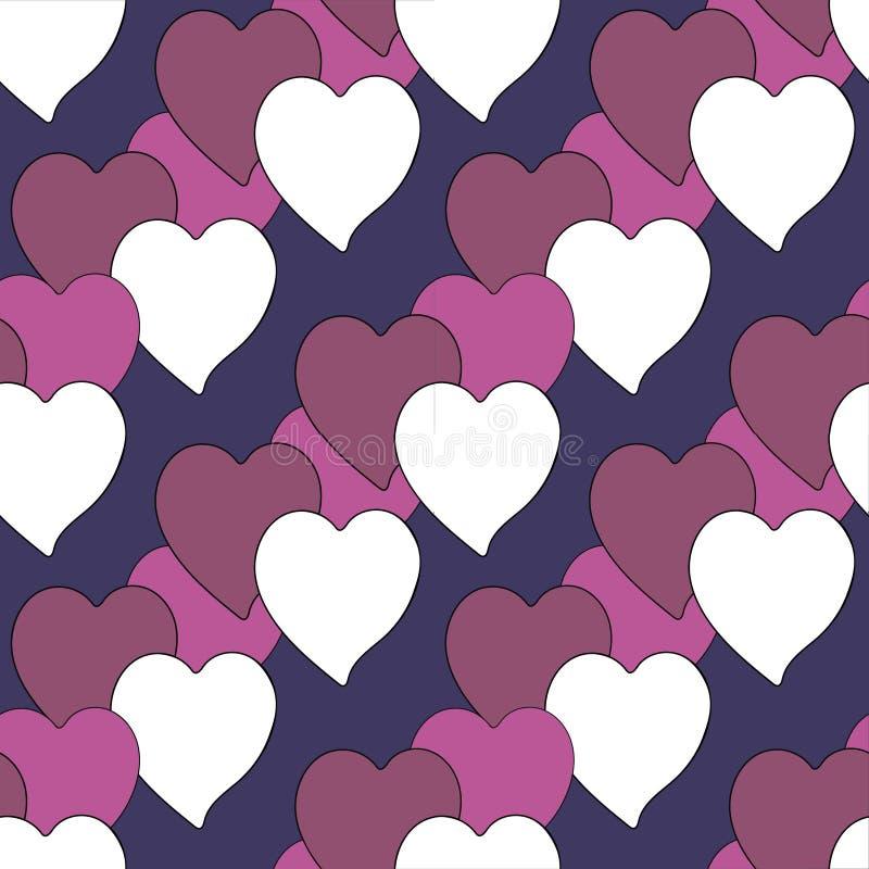 Achtergrondbehang met harten vectorillustratie vector illustratie