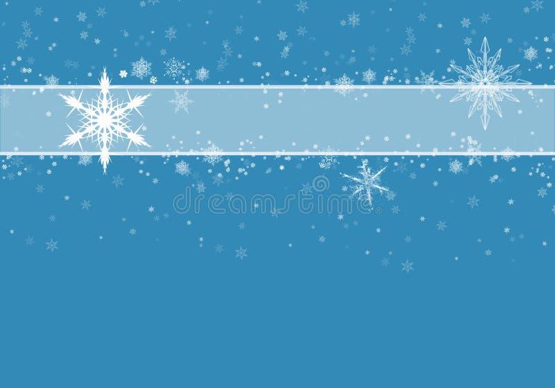 Achtergrondblauw sneeuw Kerstsneeuwval met ontdooide vlokken Winterconcept met vallende sneeuw Vakantievorm en wit stock illustratie