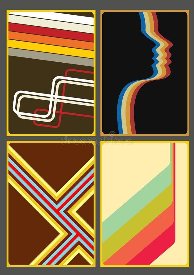 Achtergronden, Dekking van de jaren '70 stock illustratie
