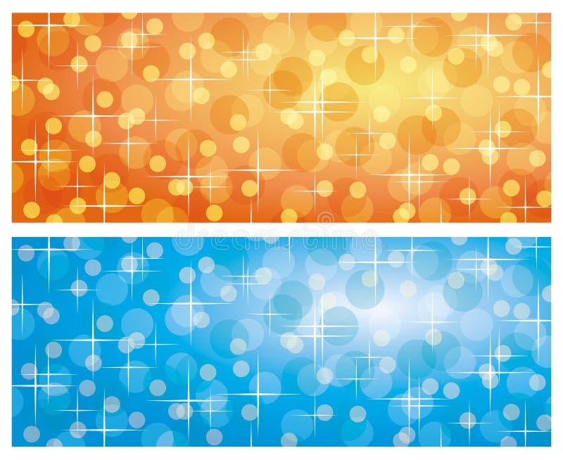 Achtergronden met het vertroebelen van lichten vector illustratie