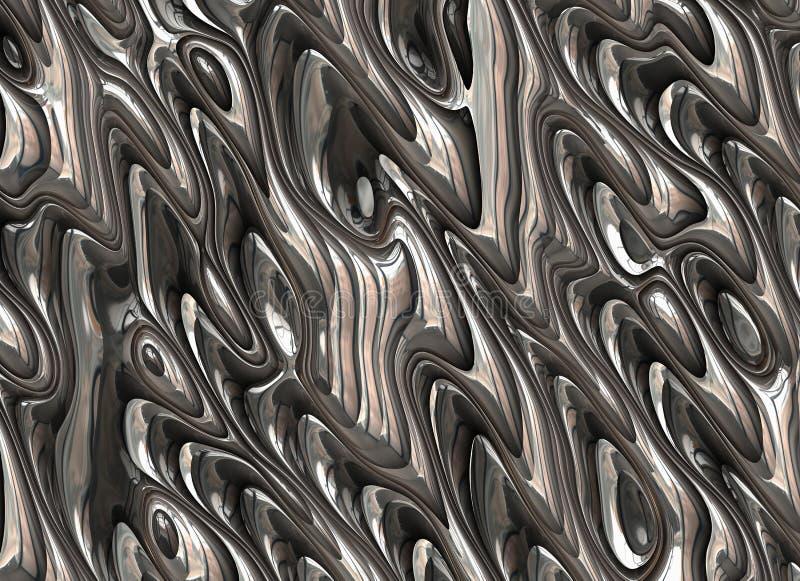 Achtergronden van de metaal de abstracte gestreepte futuristische textuur vector illustratie