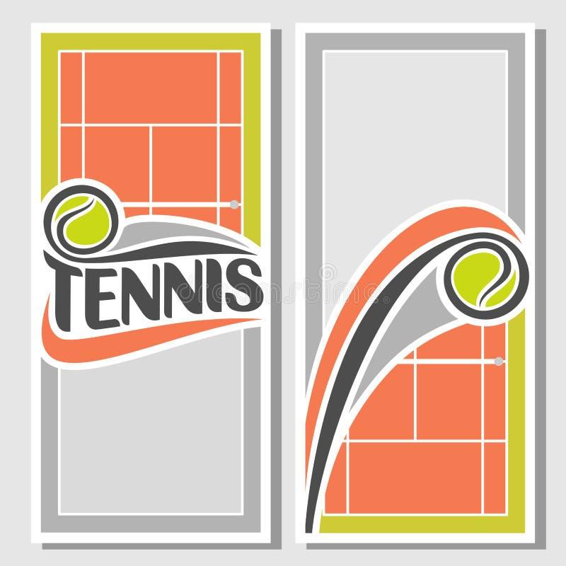 Achtergronden voor tekst voor wat betreft tennis vector illustratie