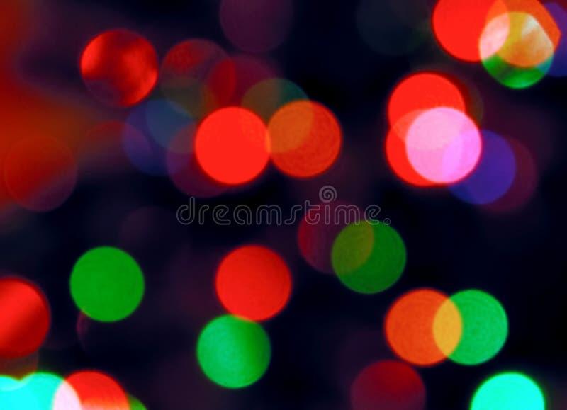 Achtergrondinzameling - Vage gekleurde lichte achtergrond royalty-vrije stock afbeelding