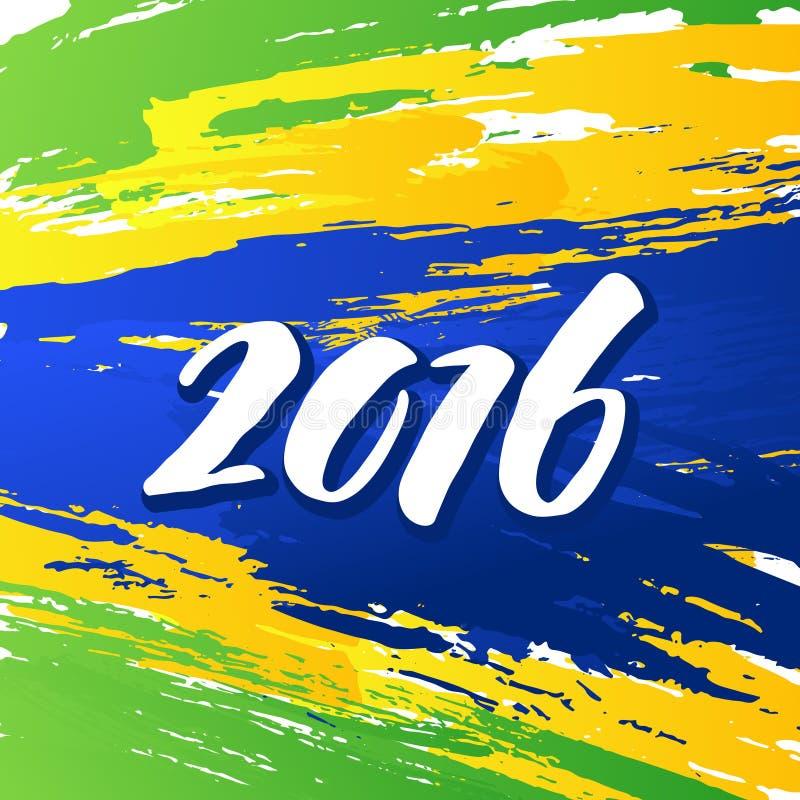 Achtergrondkleuren van de Braziliaanse vlag met vector illustratie
