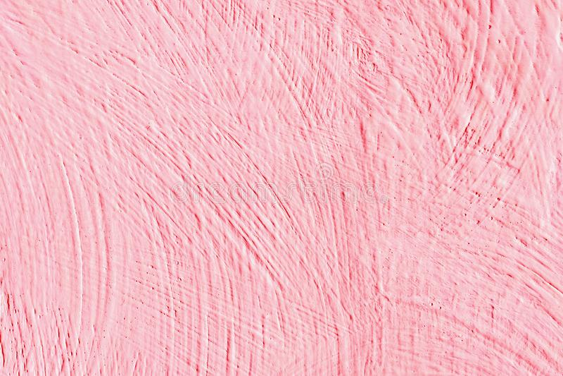 Achtergrondkleurenroze De samenvatting schilderde decoratieve achtergrond Muur in roze textuur wordt geschilderd die stock illustratie