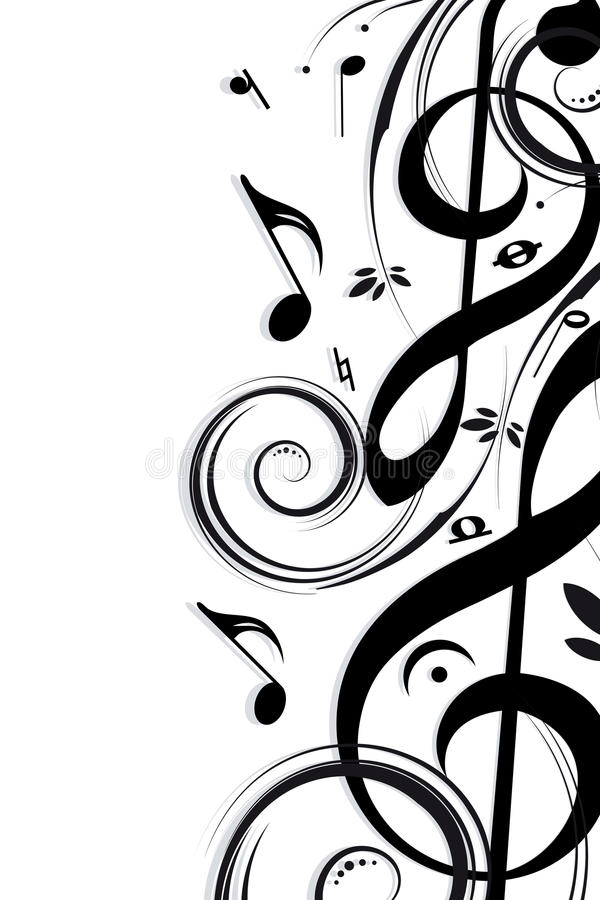 Achtergrondmuziek royalty-vrije illustratie