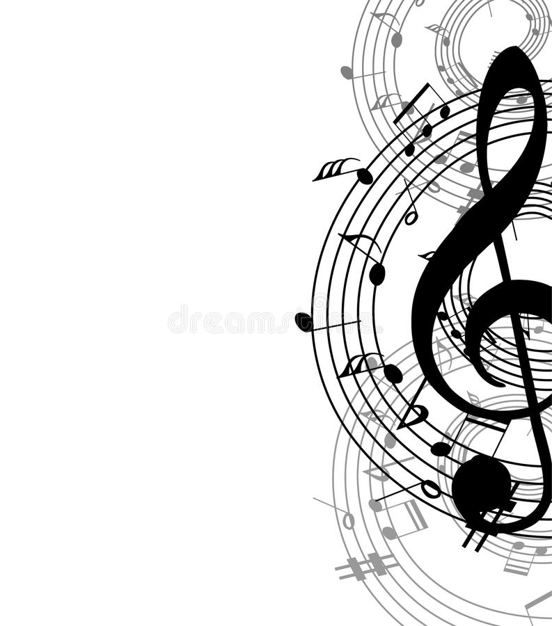 Achtergrondmuziek vector illustratie