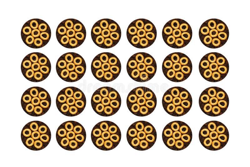 achtergrondongezuurde broodjes royalty-vrije stock fotografie