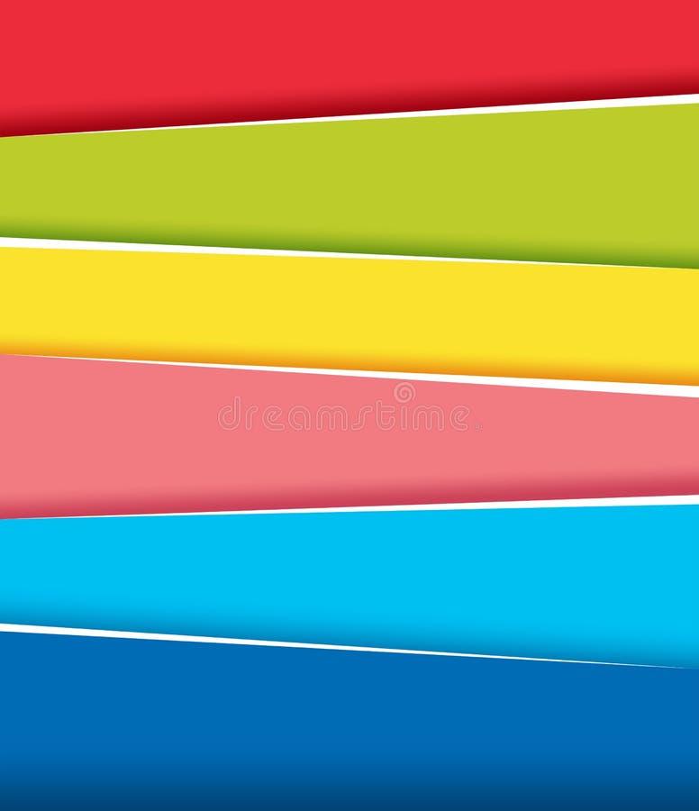Achtergrondontwerp met regenboogbanners stock illustratie