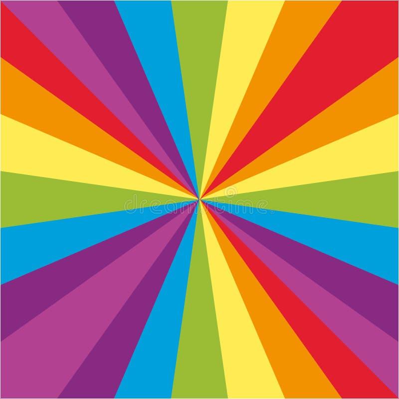 Achtergrondontwerp met regenboogstralen vector illustratie