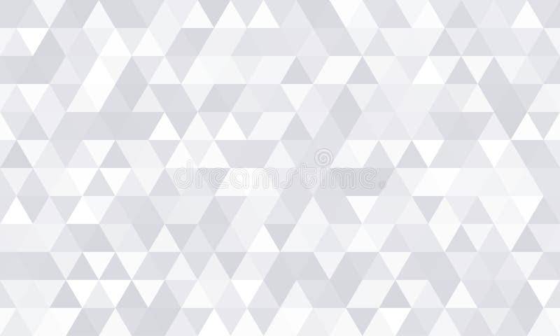 Achtergrondpatroon, witte geometrische abstracte veelhoekvorm Vector moderne grijze minimale mozaïektegel, driehoekige diamantlij vector illustratie