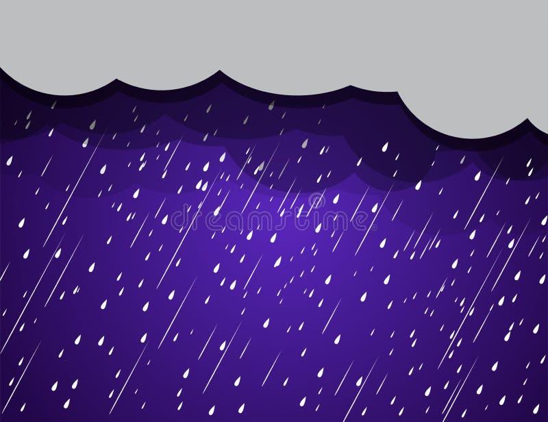 Achtergrondregenwolken, onweer stock illustratie