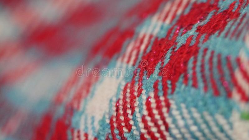 Achtergrondtexturen van textiel in dichte omhooggaand stock afbeelding