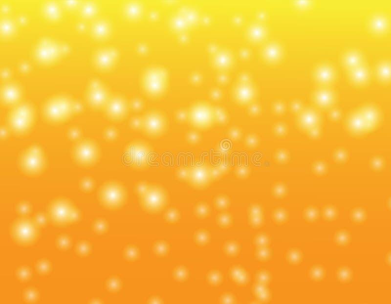 Achtergrondtextuur bokeh Goud stock illustratie