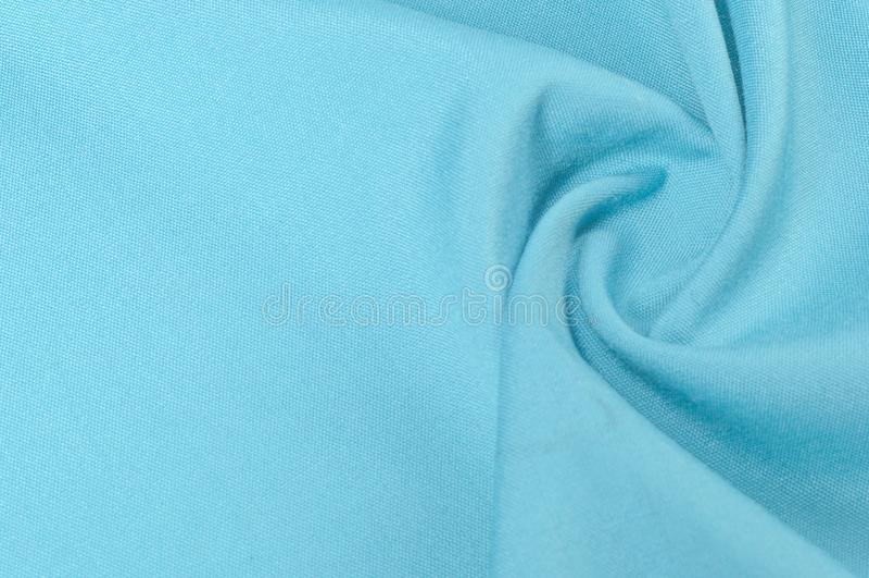 Achtergrondtextuur, patroon Stoffen monophonic blauwe wol weefsel royalty-vrije stock afbeelding