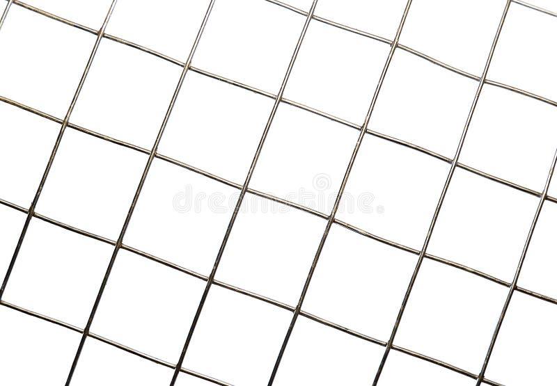 Achtergrondtextuur van geïsoleerde de cellen van het metaalnetwerk royalty-vrije stock foto