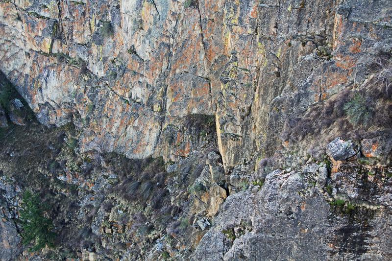 Achtergrondtextuur van Zwarte Canion op Gunnison-Punt royalty-vrije stock fotografie