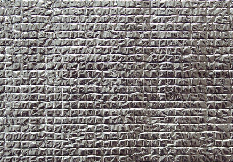 Achtergrondtextuur zilveren vierkanten van folie royalty-vrije stock afbeeldingen