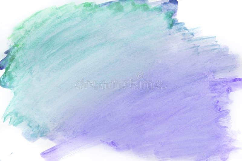 Achtergrondwaterverf, purpere kleur heldere purpere waterverfvlekken stock foto