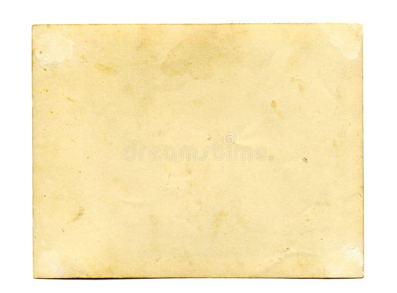 Achterkant van antieke foto royalty-vrije stock afbeelding