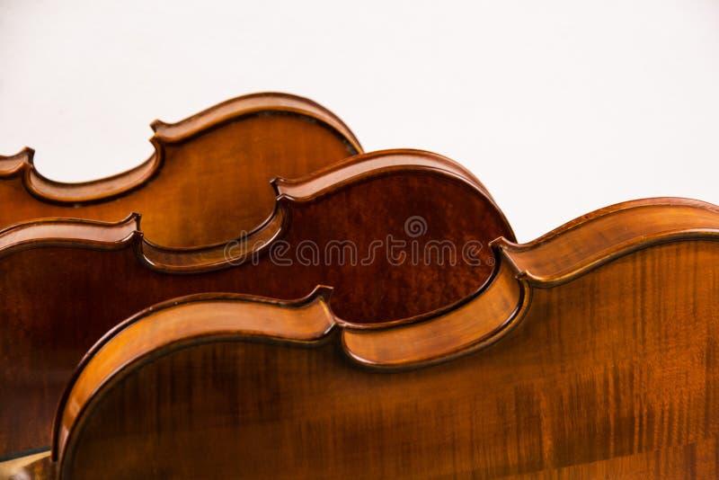 Achterkant van houten viool royalty-vrije stock foto