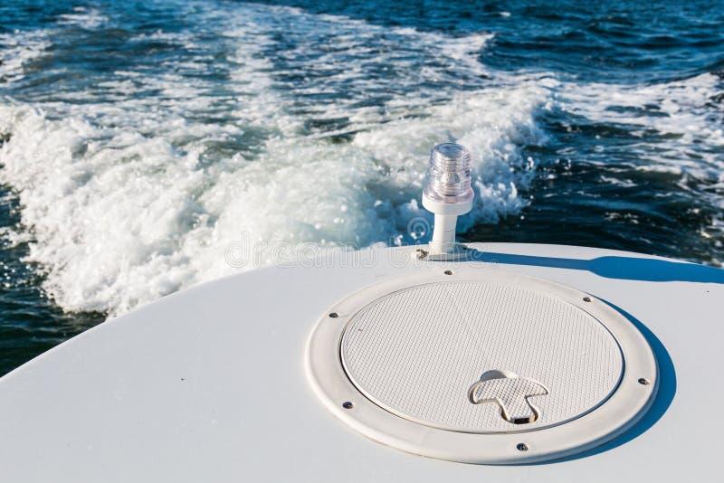 Achterlicht op Achtersteven van Boot royalty-vrije stock foto
