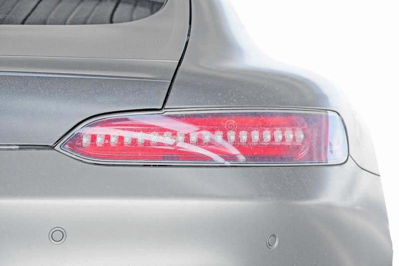 Achterlicht van geïsoleerde Sportwagen/Open tweepersoonsauto stock foto's