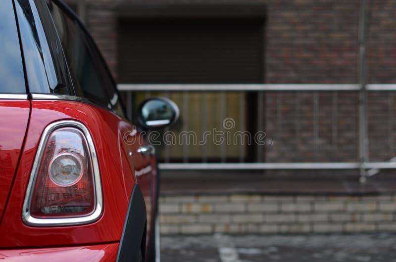 achterlicht van rode auto stock afbeelding