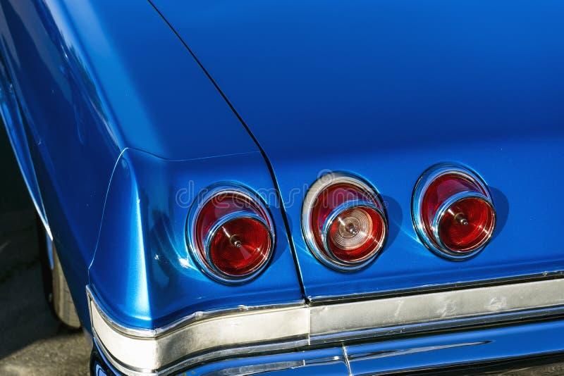 Achterlichten van de Impala SS van Chevrolet van 1965 stock foto