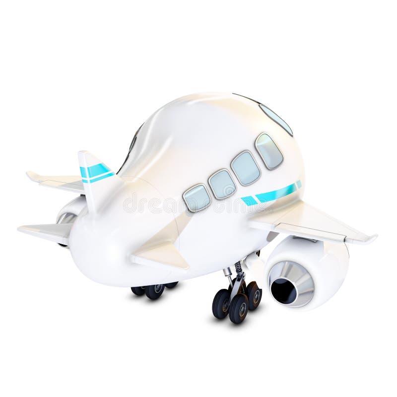 Achtermening van een grappig vliegtuig vector illustratie
