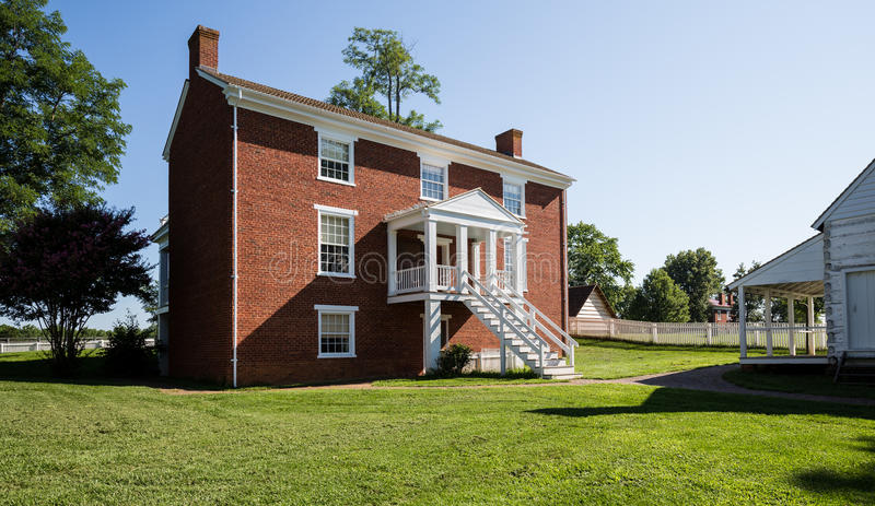 Achtermening van McLean-Huis in Appomattox royalty-vrije stock afbeelding