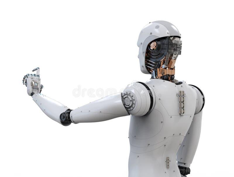 Achtermening van robot royalty-vrije illustratie