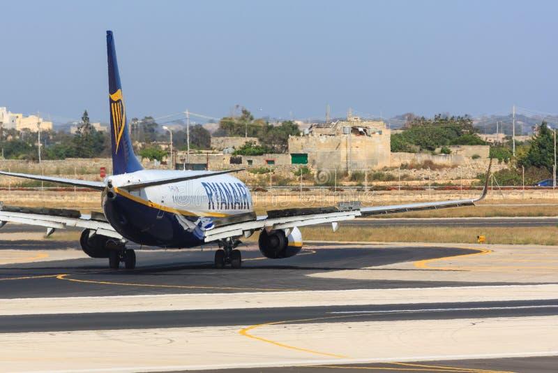 Achtermening van Ryanair Boeing 737 royalty-vrije stock fotografie