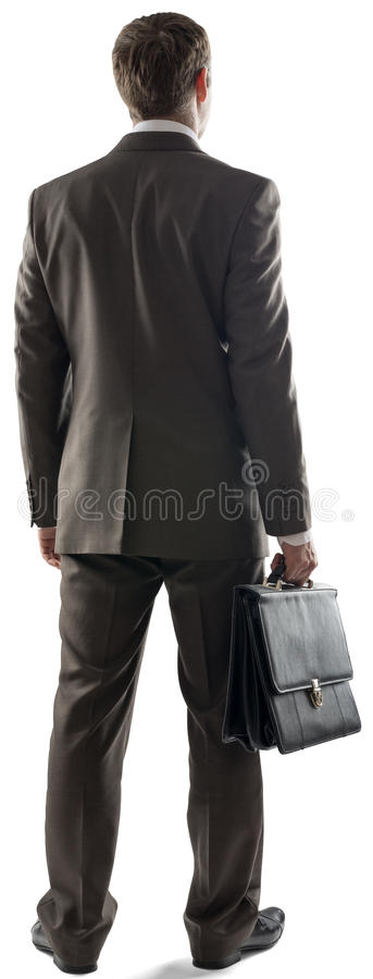 Achtermening van zakenman status royalty-vrije stock foto