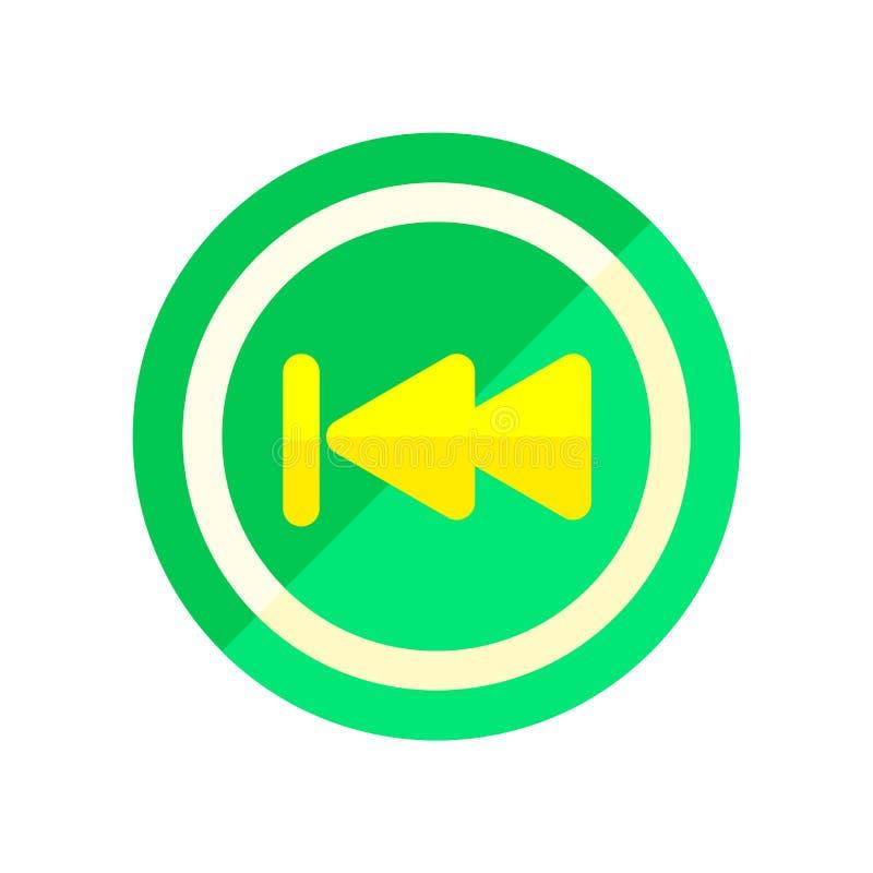 Achterpictogram vectordieteken en symbool op witte achtergrond, Achterembleemconcept wordt geïsoleerd stock illustratie