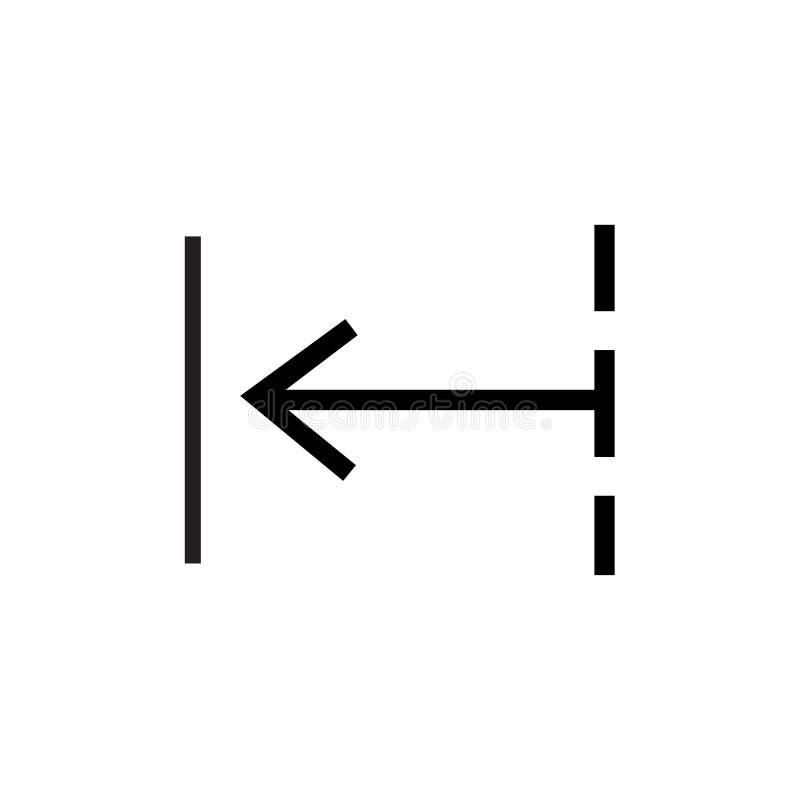 Achterpictogram vectordieteken en symbool op witte achtergrond, Achterembleemconcept wordt geïsoleerd vector illustratie
